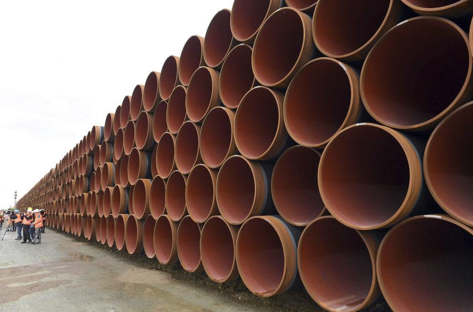 """""""Nord Stream 2"""" dujotiekio vamzdžiai"""