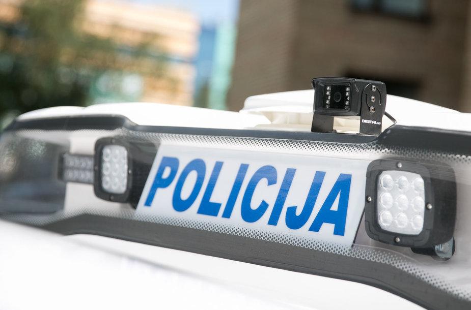 Policijos ekspertų automobilis