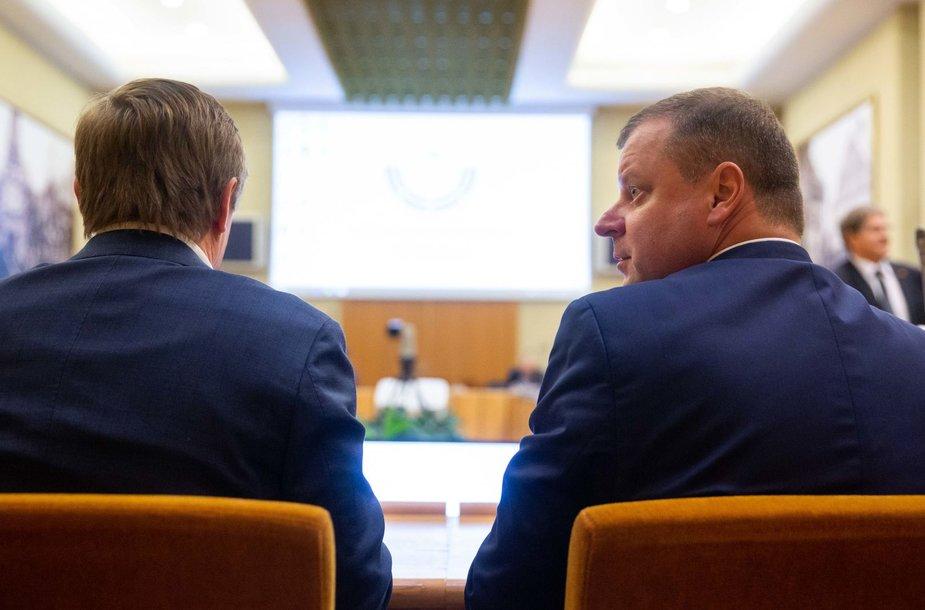 Ramūnas Karbauskis ir Saulius Skvernelis