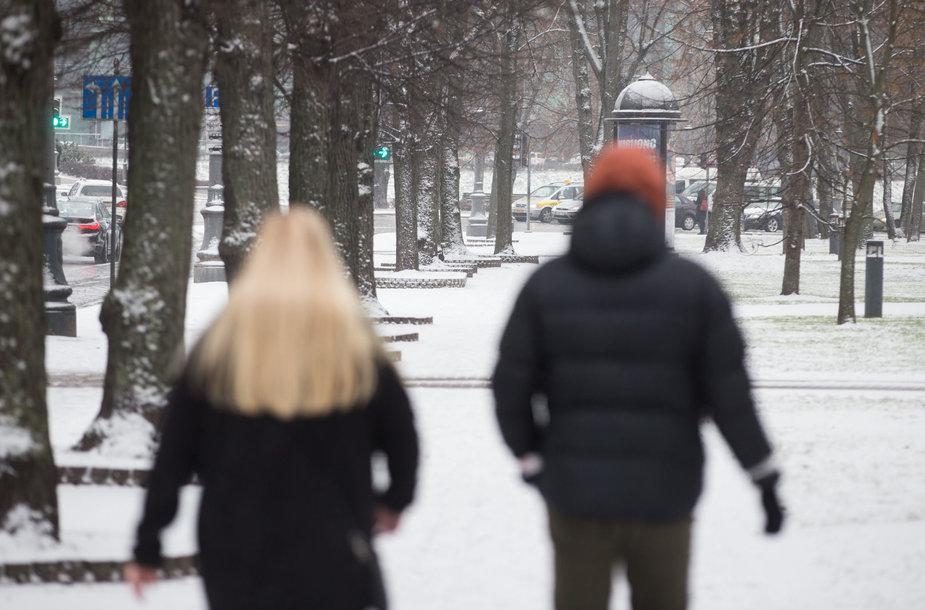 Sugrįžusi žiema Vilniuje