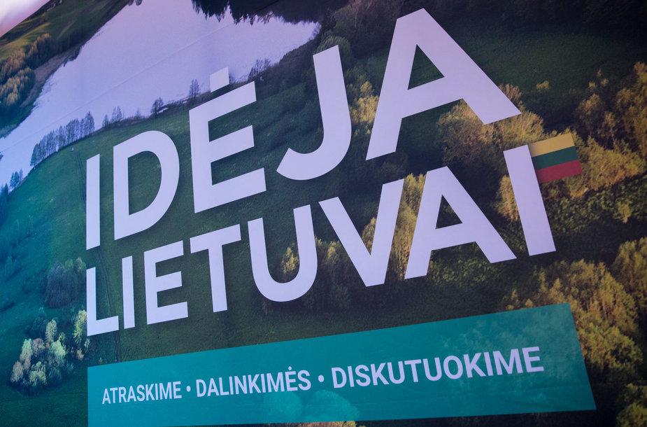 """Iniciatyvos """"Idėja Lietuvai"""" idėjų pristatymas"""