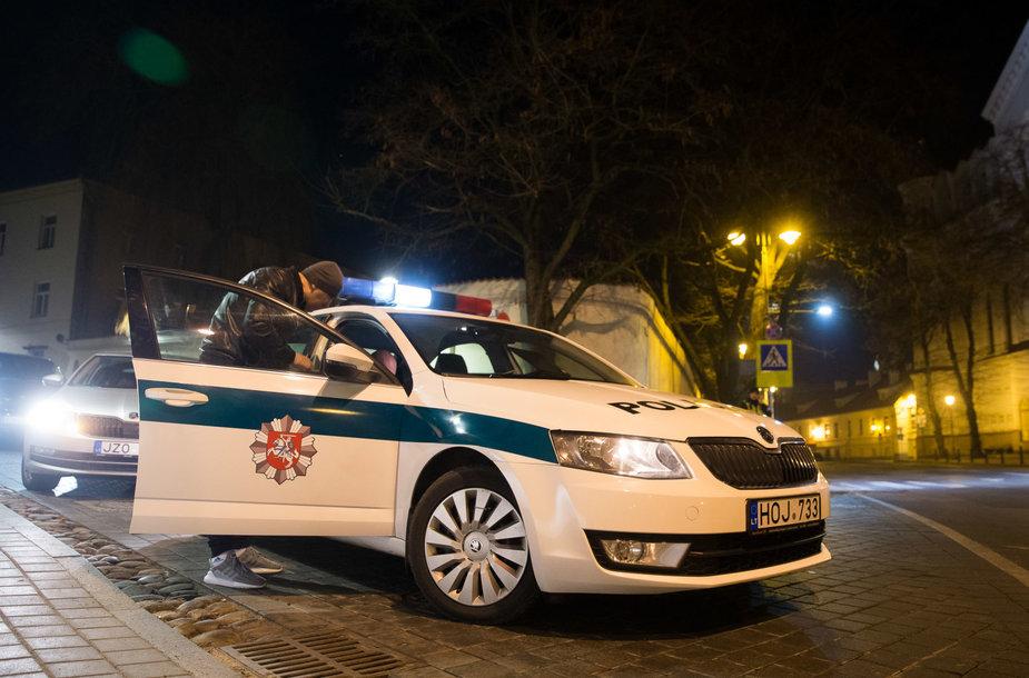 Naktinio policijos reido akimirka
