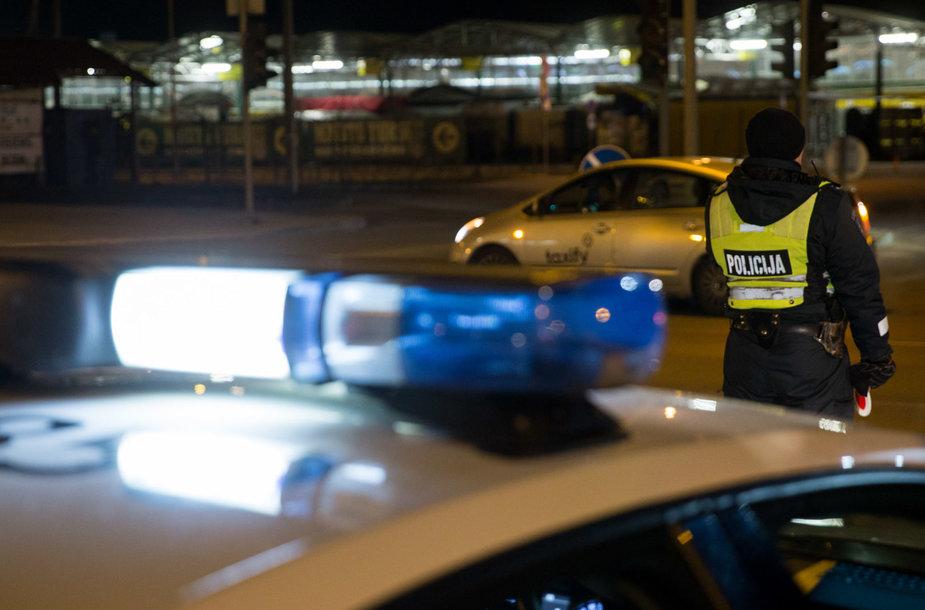 Naktiniame policijos reide iškvietimų daugiau nei pažeidėjų