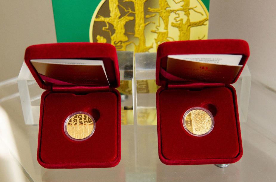 Išleista kolekcinė aukso moneta Lietuvos Laisvės Kovos Sąjūdžiui