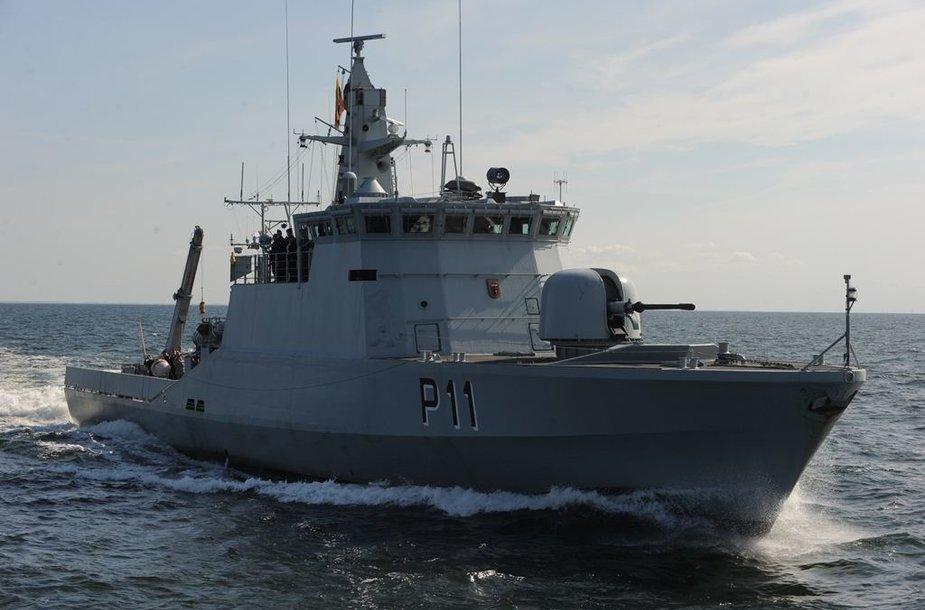"""Lietuvos karinių jūrų pajėgų patrulinis laivas P11 """"Žemaitis"""""""