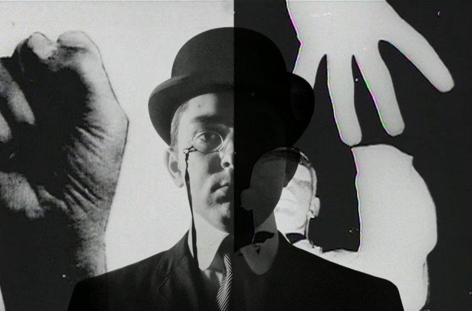 """Kadras iš filmo """"George J.Mačiūno ir Fluxus istorija."""""""