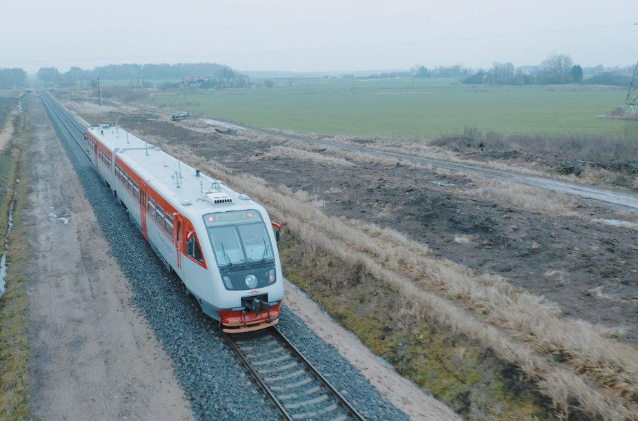 Atstatytas Rengės geležinkelio ruožas
