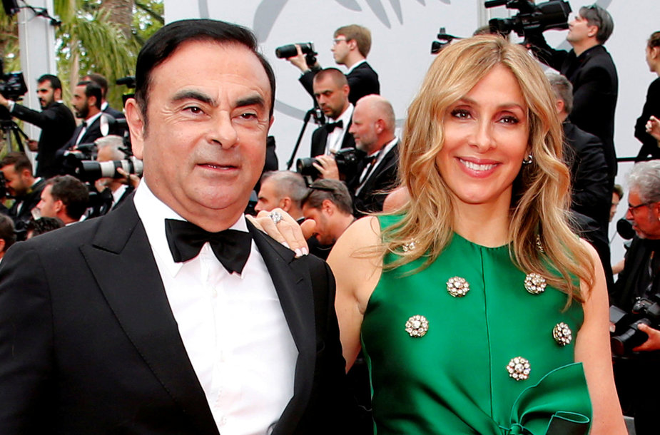 Carlosas Ghosnas ir Carole Ghosn