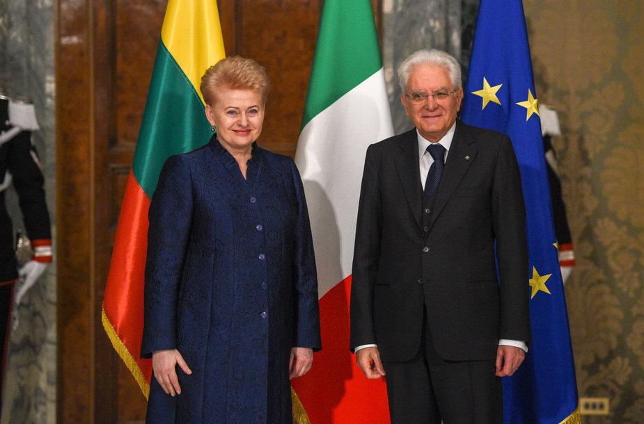 Prezidentė susitinka su Italijos Respublikos Prezidentu Sergio Mattarella