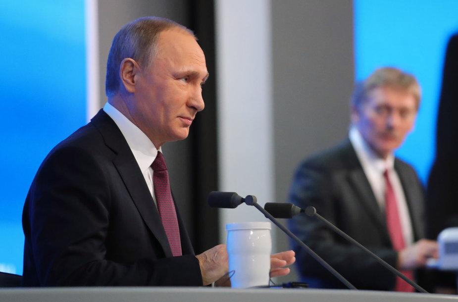 Vladimiras Putinas ir Dmitrijus Peskovas