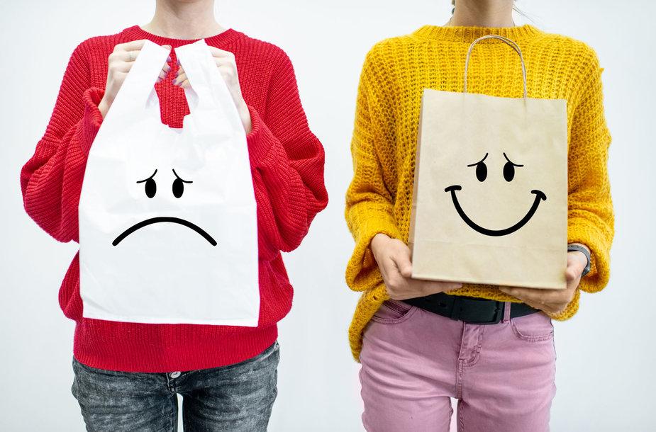 Plastikinis ar popierinis maišelis?