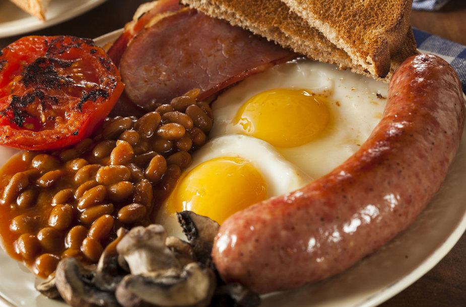 Tradiciniai angliški pusryčiai