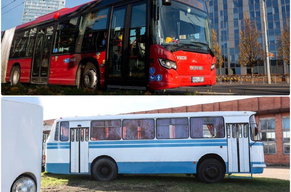 Senasis ir naujasis autobusai