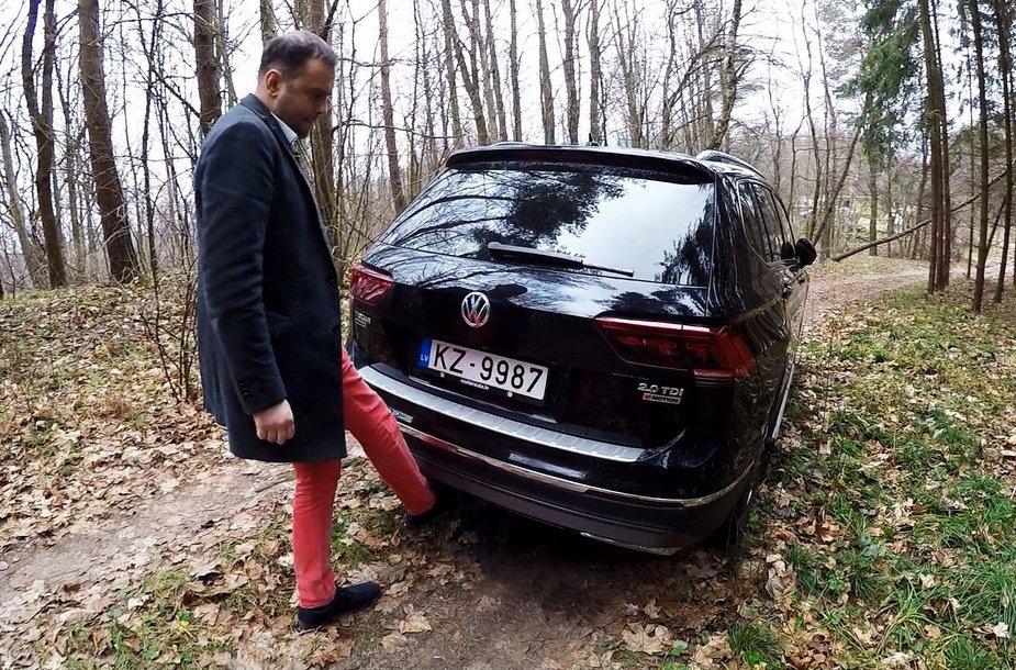 """J. Morkūnas išbando """"Volkswagen Tiguan"""" ekstremaliomis sąlygomis"""