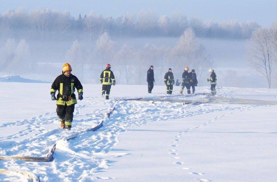 Gaisrų gesinimas šaltyje
