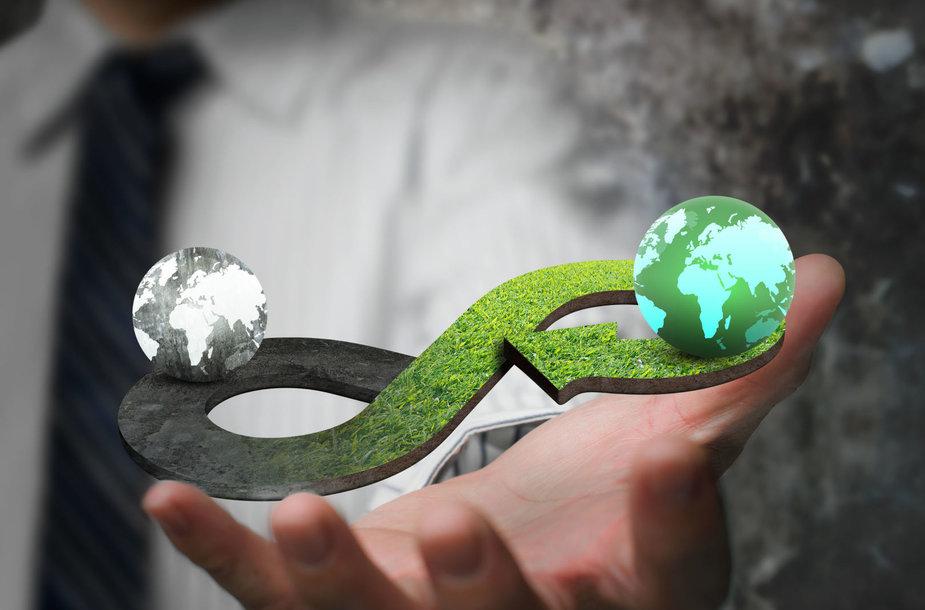 Žiedinės ekonomikos asociatyvi nuotrauka