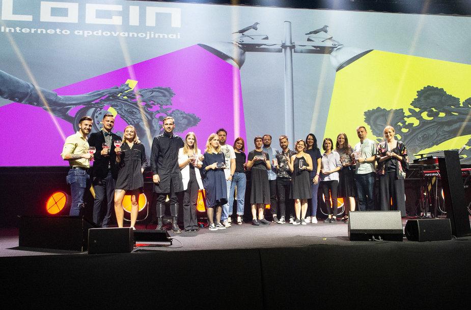 LOGIN 2019 interneto apdovanojimų renginio akimirkos