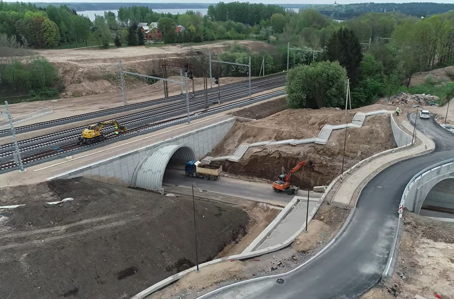 Rail Baltic railway stretch between Kaunas and Palemonas