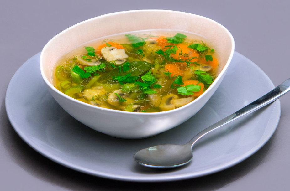 Antienos ir grybų sriuba
