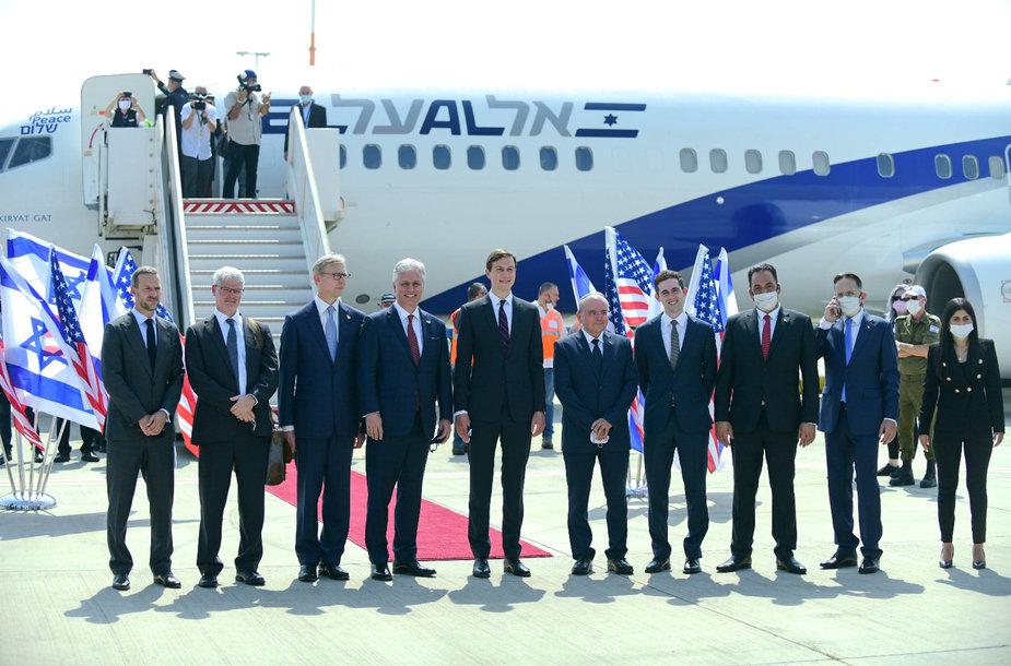 Izraelio ir JAV delegacijos