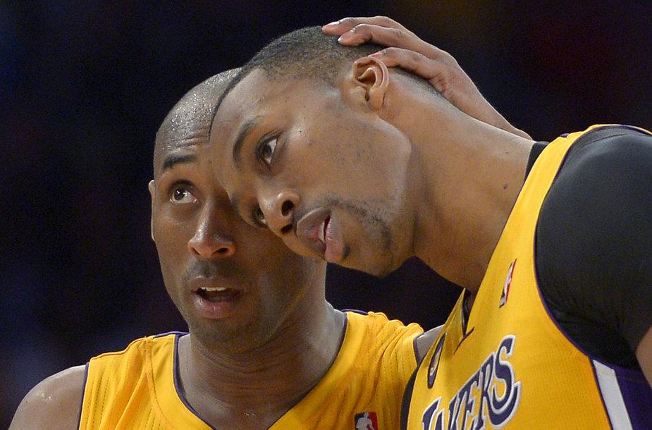 Kobe Bryantas ir Dwightas Howardas