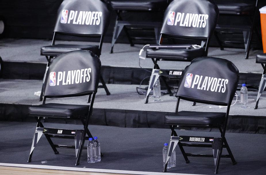 NBA komandos boikotuoja rungtynes