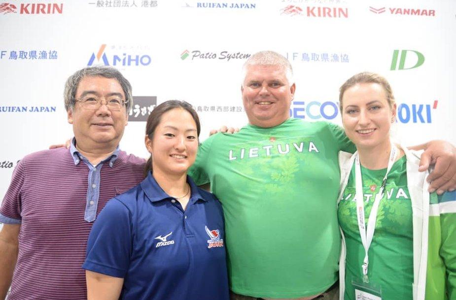 Linas Eidukevičius su Viktorija Andrulyte Japonijoje