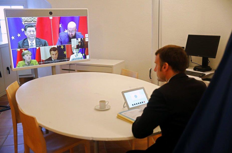 ES lyderių ir Xi Jinpingo videokonferencija