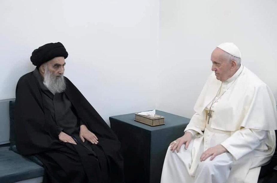 Popiežius Pranciškus susitiko su Ali Sistani
