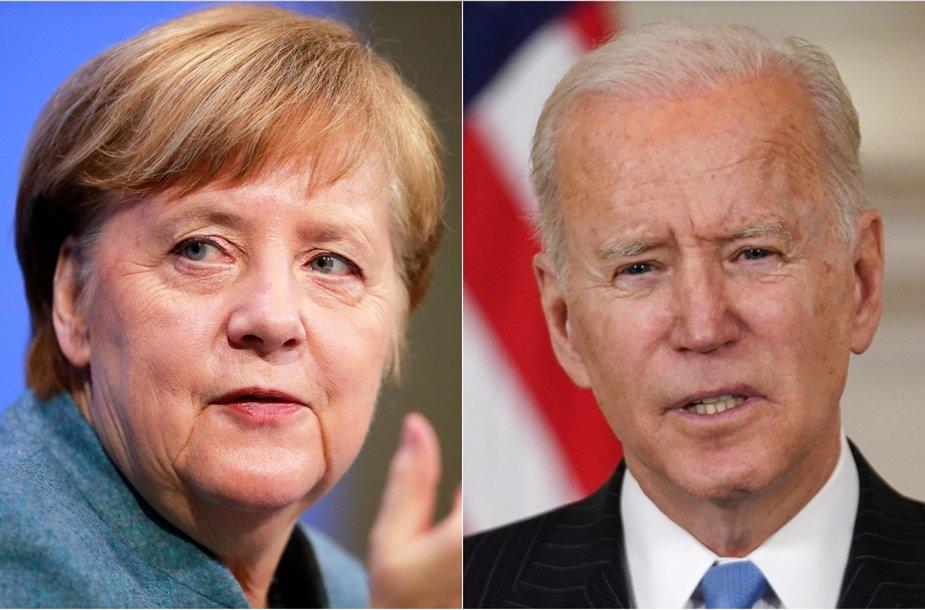 A.Merkel, J.Bidenas