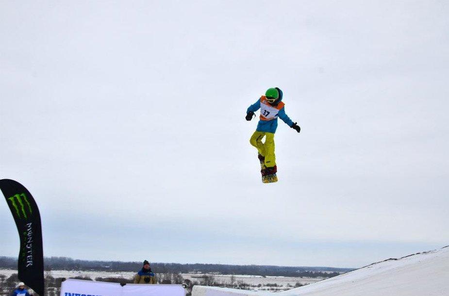 Lietuvos snieglentininkų komanda varžosi tarprautinėse FIS World Junior Championship varžybose 2013