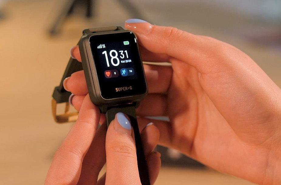 """Išmaniojo laikrodžio-telefono """"Gudrutis Super-G Active"""" apžvalga"""