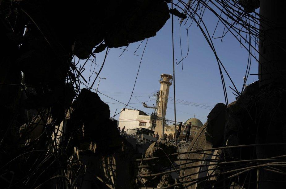 Gazos Ruože sugriuvusi mečetė