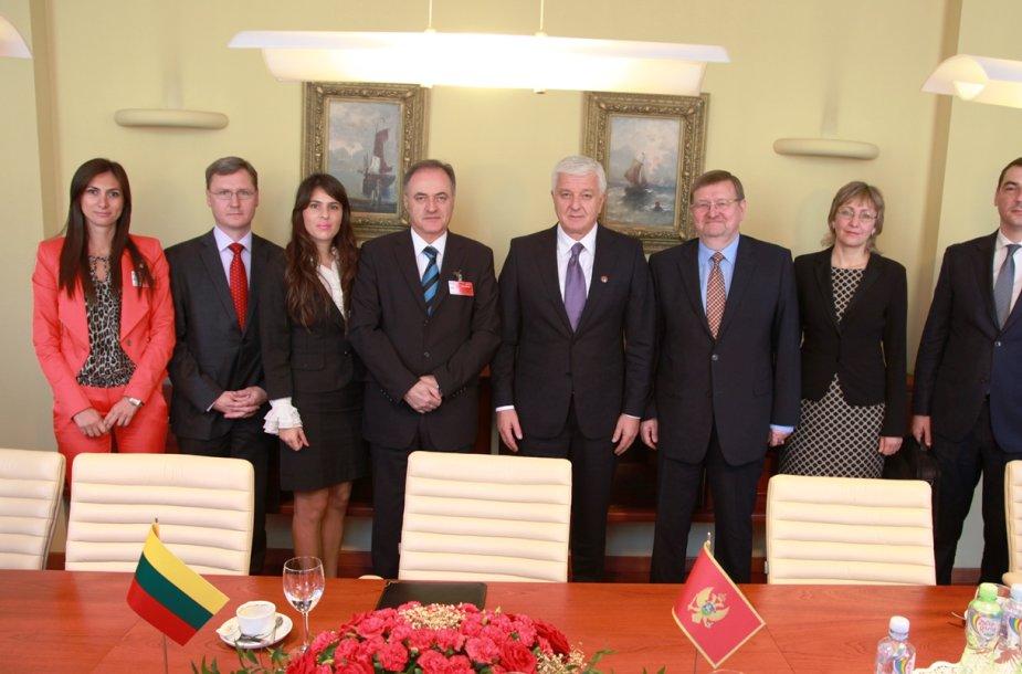 Pasirašytas Lietuvos ir Juodkalnijos tarpusavio sutarimų memorandumas