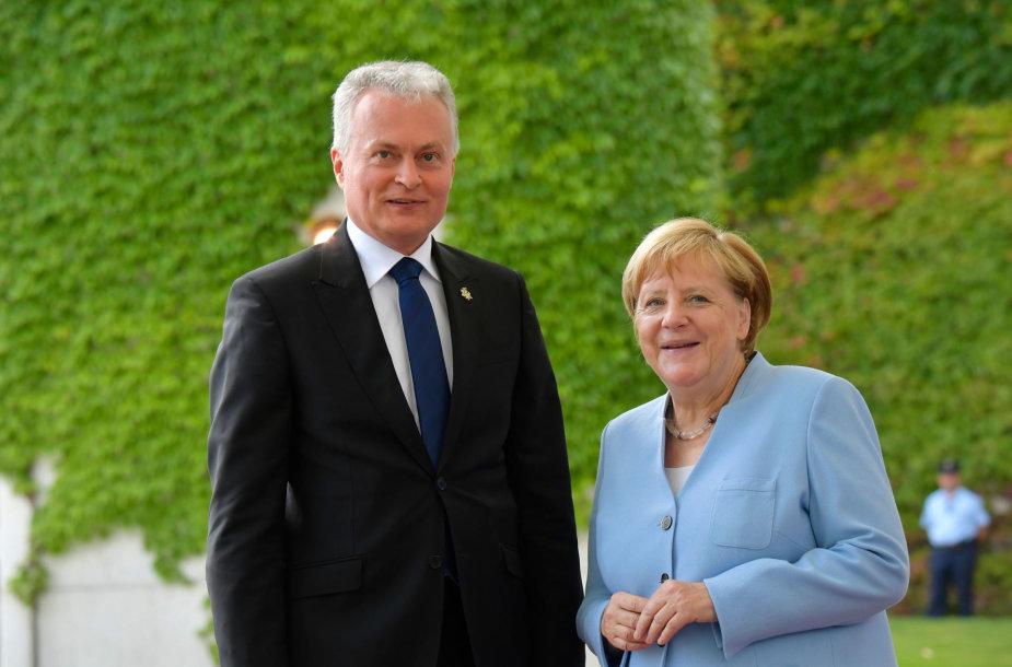 G.Nausėda ir A.Merkel