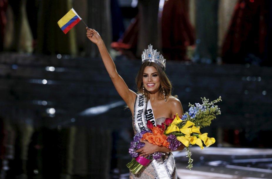 """Kolumbietė Ariadna Gutierrez per klaidą buvo paskelbta """"Mis Visata"""""""