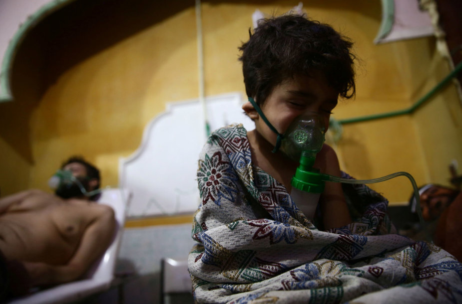 Per cheminę ataką sužeisti sirai Rytų Gutoje