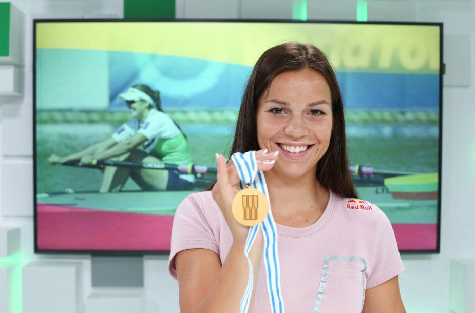 15min studijoje – pasaulio irklavimo čempionės Milda Valčiukaitė ir Ieva Adomavičiūtė.