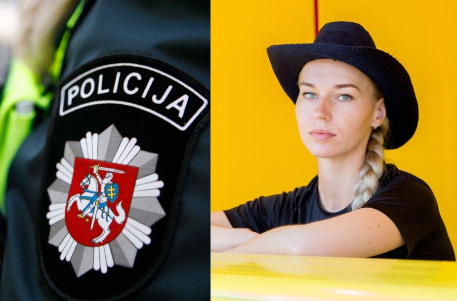 Policija (asociatyvus kadras) ir Birutė Navickaitė