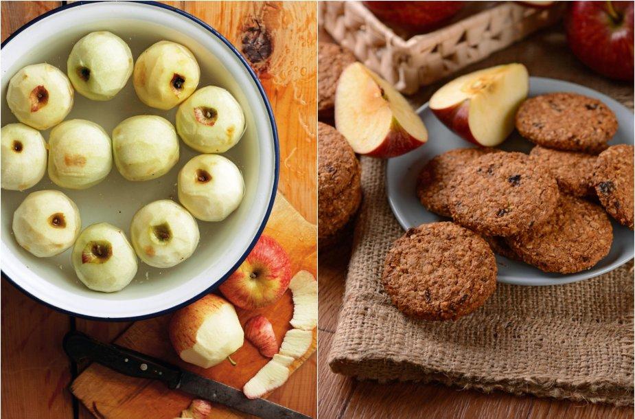 Avižiniams sausainiams drėgmės suteiks obuoliai