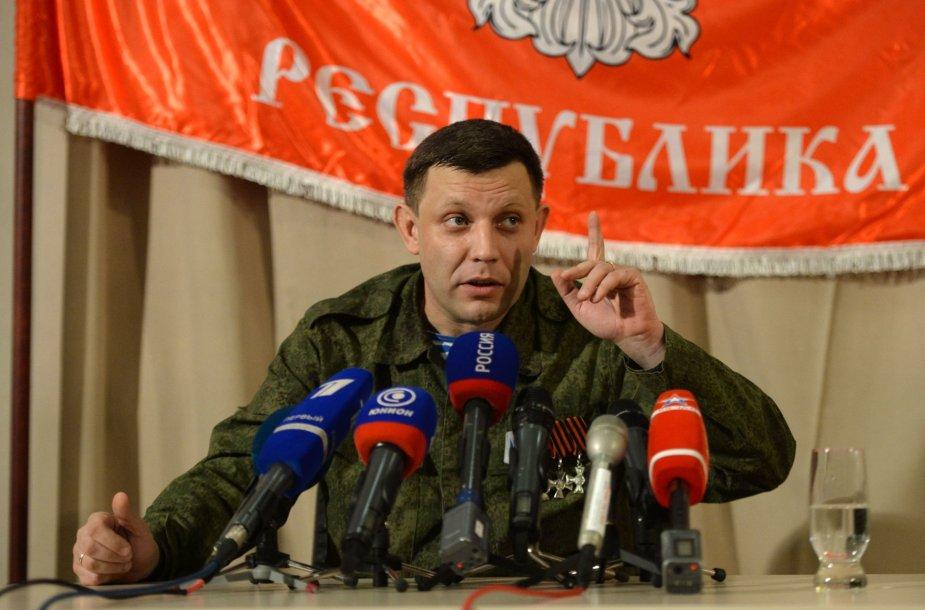 Vienas Donecko separatistų lyderių Aleksandras Zacharčenka