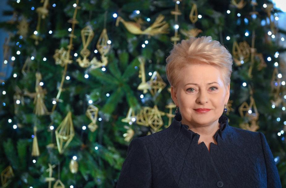Prezidentė Dalia Grybauskaitė, kalėdinis sveikinimas