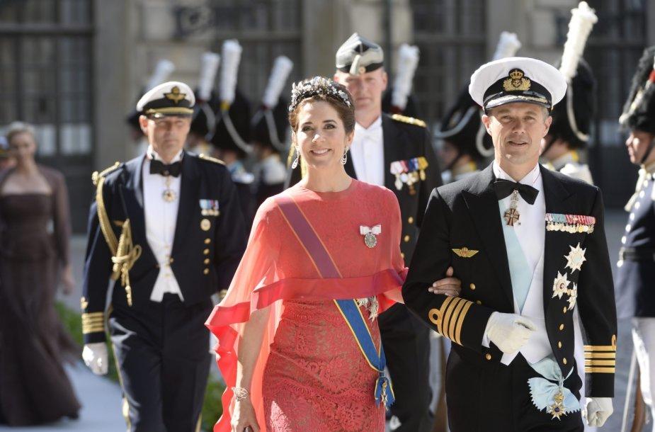 Danijos princas Frederikas su žmona princese Mary