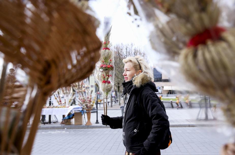 Verbų sekmadienį Vilniuje - šventinė nuotaika