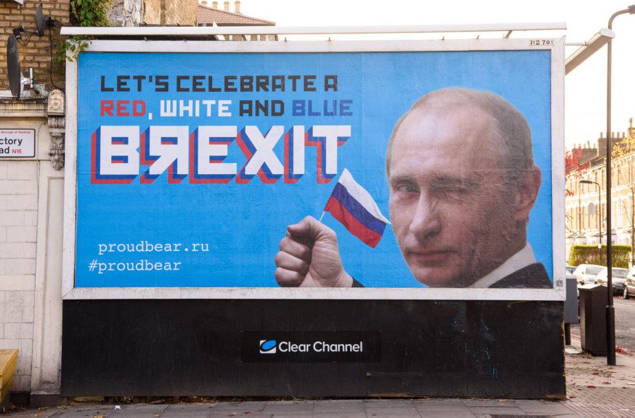 Satyrinė reklama Londone