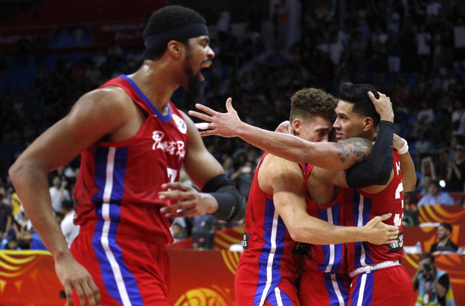 Puerto Riko krepšininkai išplėšė pergalę prieš Iraną.
