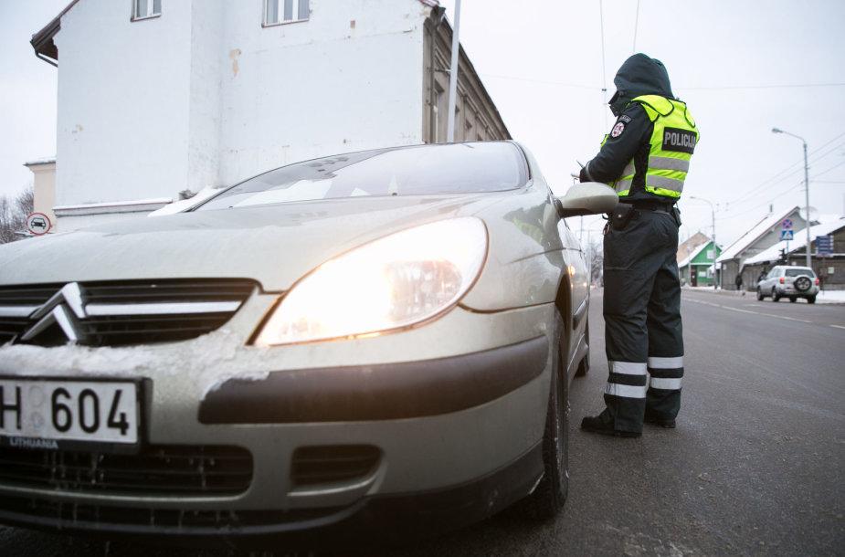 Rytinio policijos reido Vilniaus Kalvarijų gatvėje akimirka