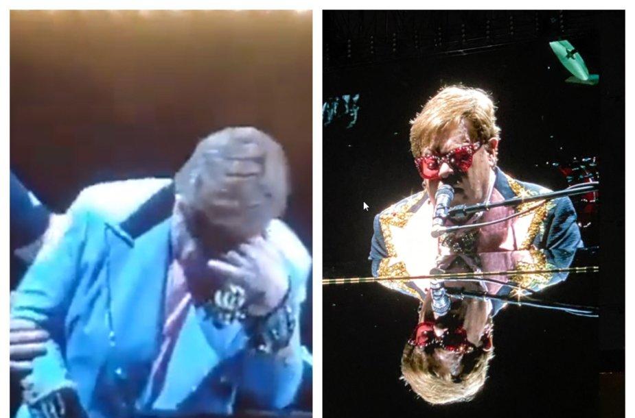 Eltonas Johnas buvo priverstas nutraukti koncertą