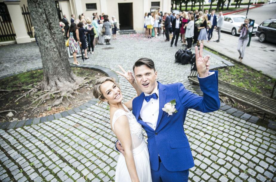 Tomo Pavilionio ir Gabrielės Lileikaitės vestuvių akimirka