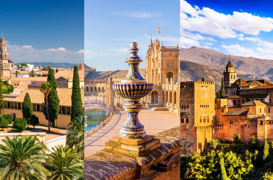 Kordoba, Sevilija ir Granada, Ispanija